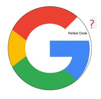 구글 로고 비대칭