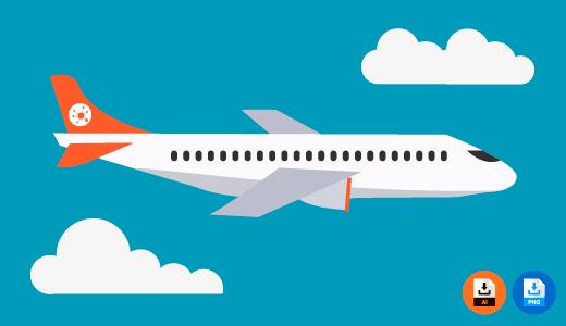 비행기 사진 아이콘