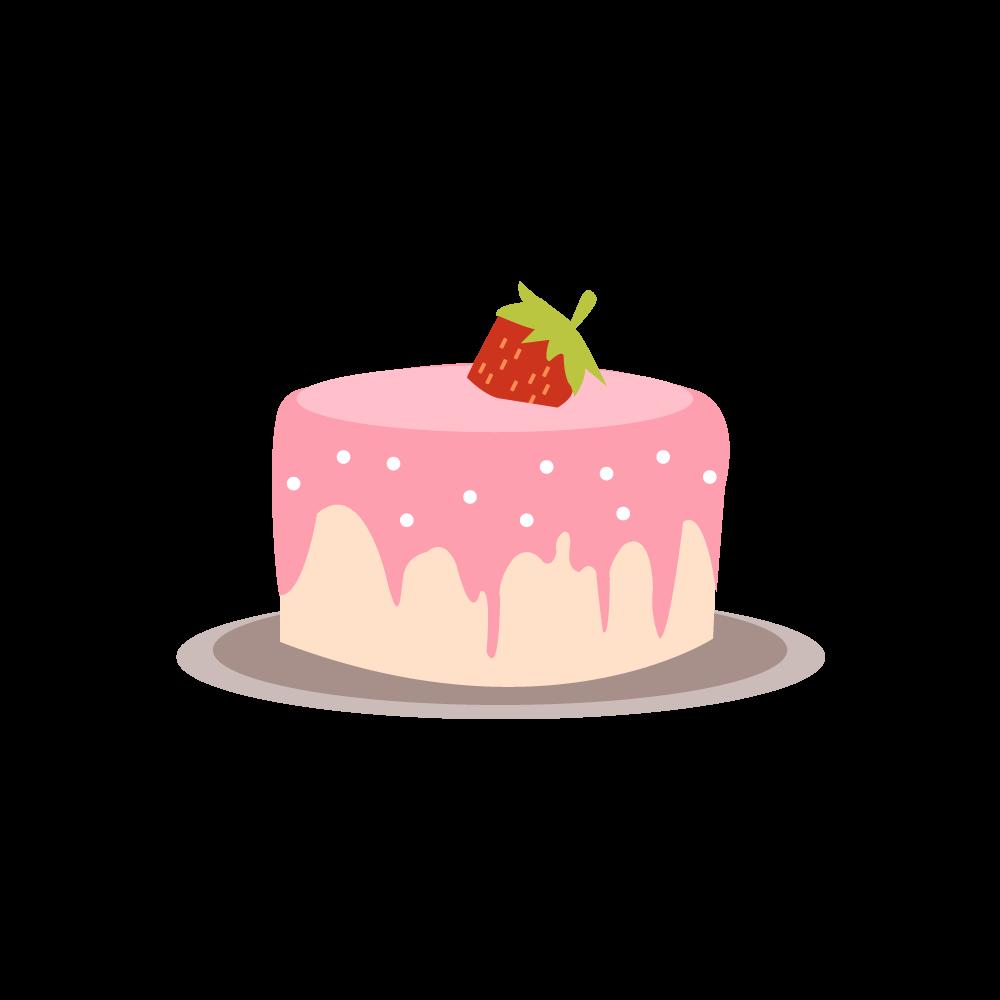 케이크 일러스트 도안