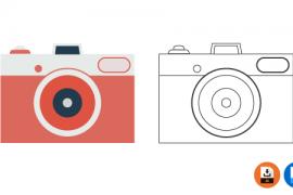 카메라 디자인 일러스트