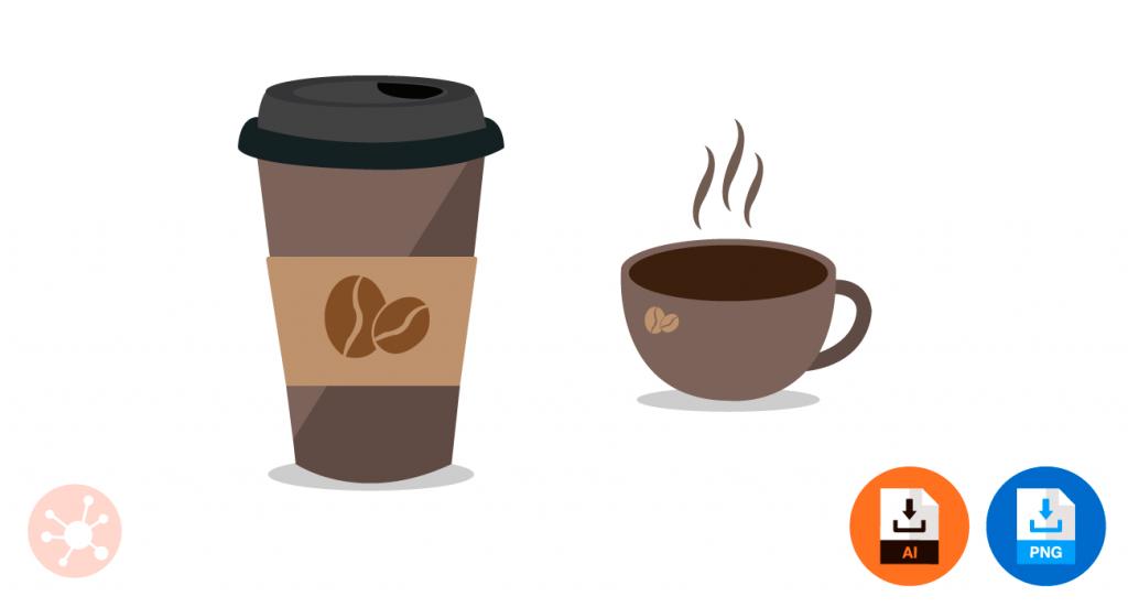 커피 일러스트, 커피잔 일러스트