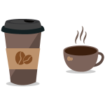 커피 일러스트 ai