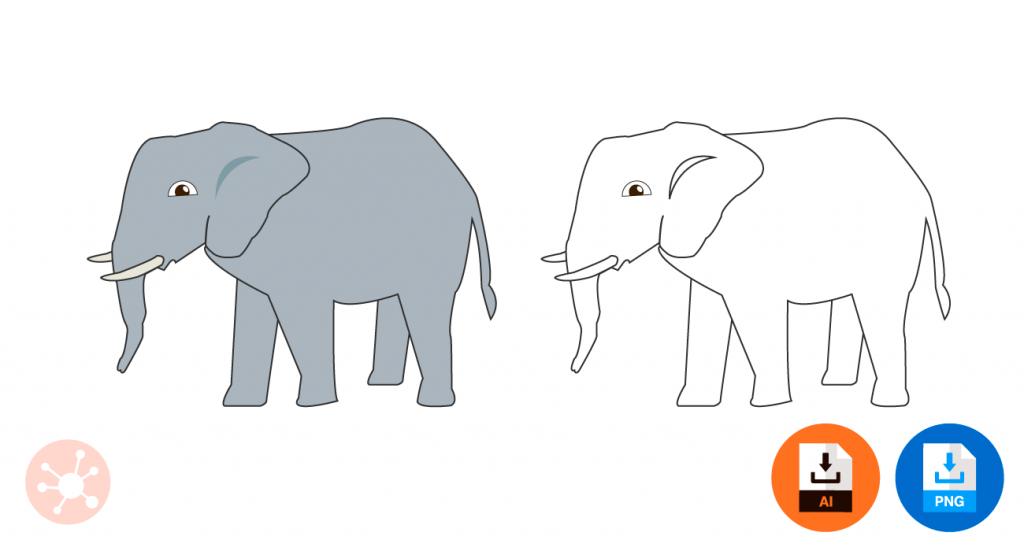 코끼리 일러스트