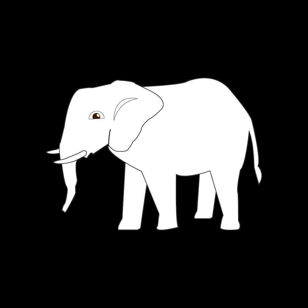 코끼리 일러스트 도안
