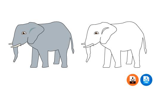 코끼리 일러스트 특징