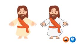 예수님 일러스트 디자인 이미지