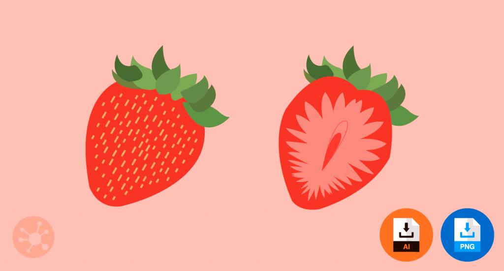 딸기 일러스트