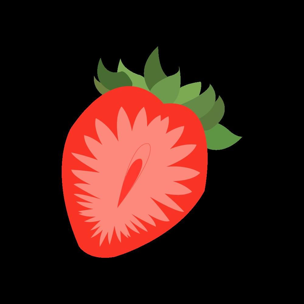 딸기 일러스트 AI