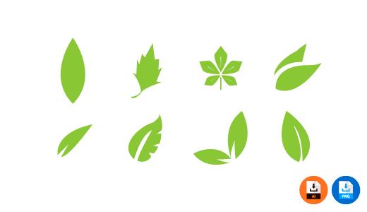 나뭇잎 일러스트 PNG AI