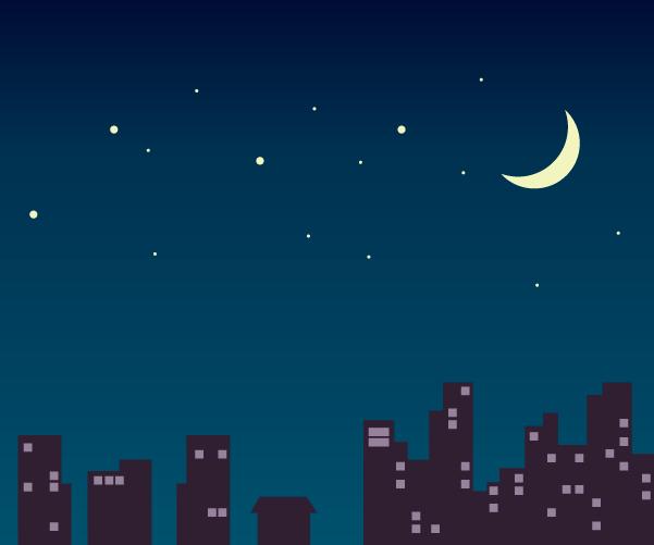 밤하늘 일러스트 AI, PNG