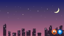 밤하늘 일러스트