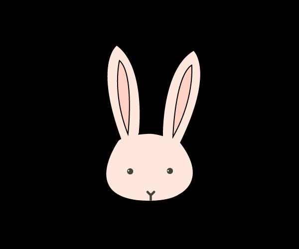 토끼 일러스트 도안