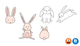토끼 일러스트 귀여운