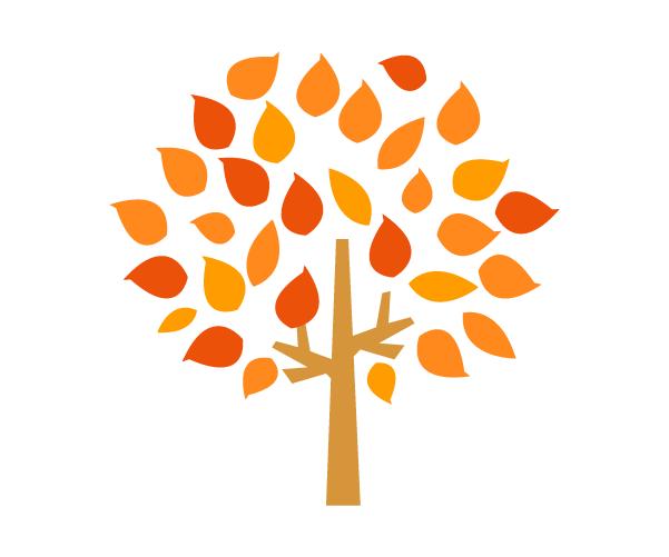 가을나무 일러스트