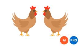 닭 일러스트 PNG 이미지 디자인