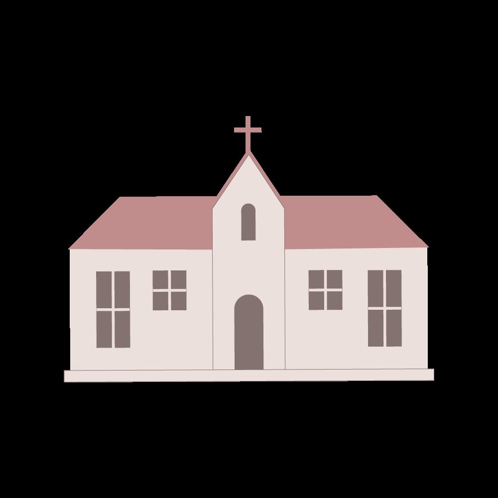 교회 일러스트 PNG