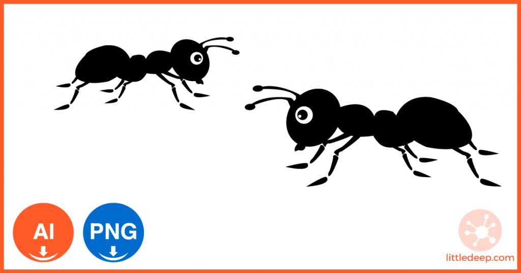 개미 일러스트