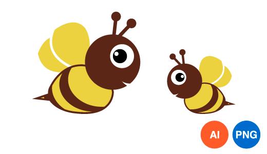 꿀벌 일러스트 PNG
