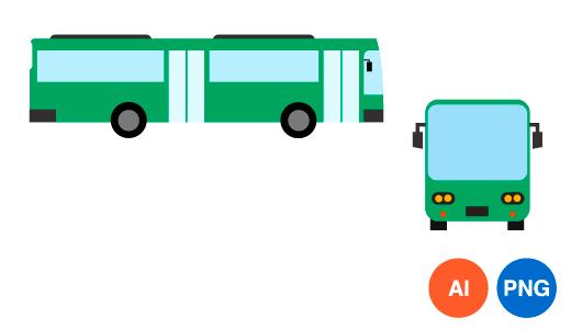 버스 일러스트 PNG 이미지
