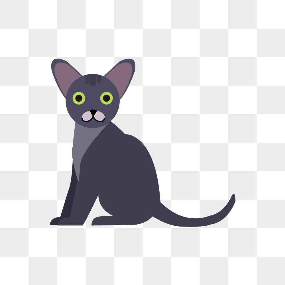 고양이 일러스트 PNG 이미지