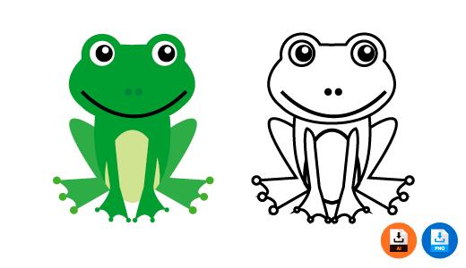 개구리 일러스트 PNG AI