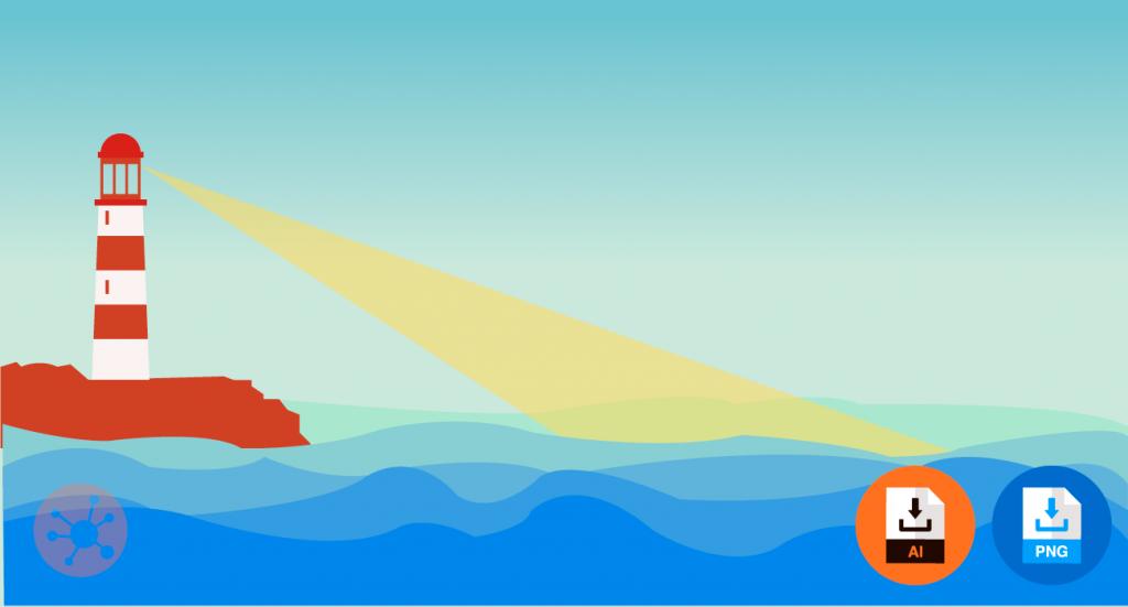 바다 일러스트 배경