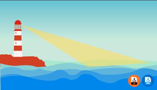 바다 일러스트 사진 배경