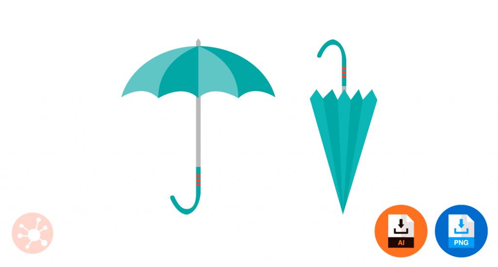 우산 일러스트 PNG 이미지