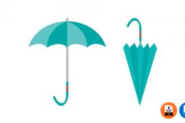 우산 일러스트