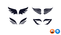 날개 일러스트 PNG 이미지 AI 배경