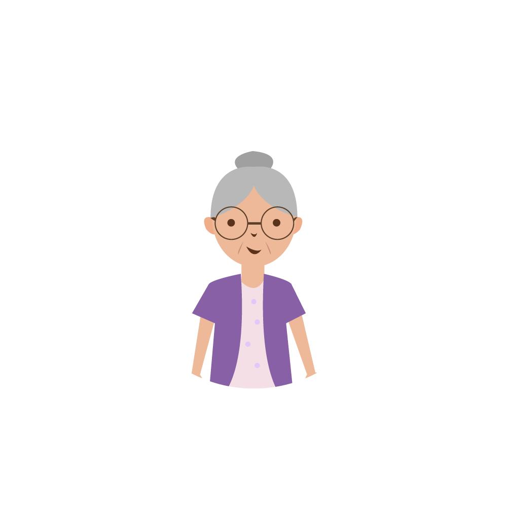 할머니 일러스트 PNG AI 이미지