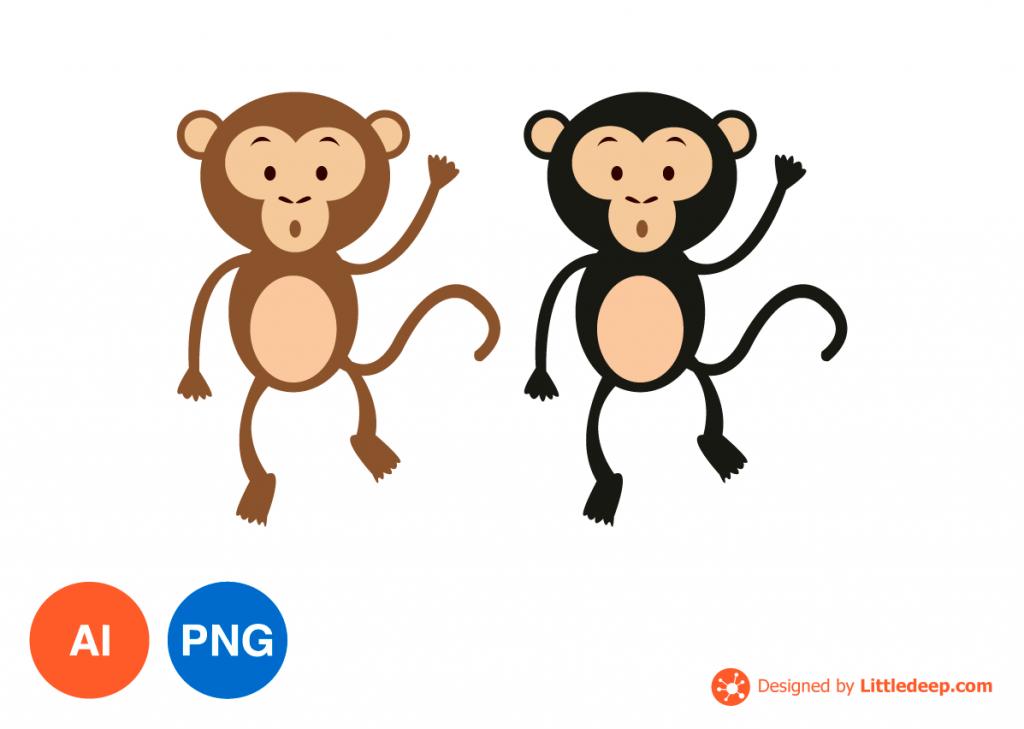 원숭이 일러스트 PNG