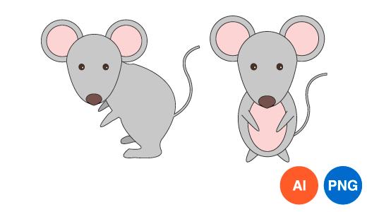 쥐 이미지 디자인 일러스트 PNG
