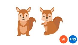 다람쥐 일러스트 PNG