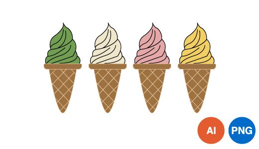 아이스크림 이미지 디자인 PNG