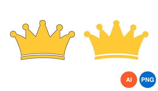 왕관 디자인 일러스트 PNG