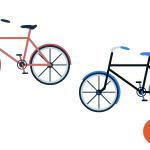 자전거 디자인 일러스트