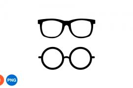 안경 이미지 디자인 일러스트 PNG