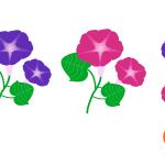 나팔꽃 일러스트 이미지 디자인