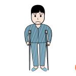환자 일러스트 디자인 이미지