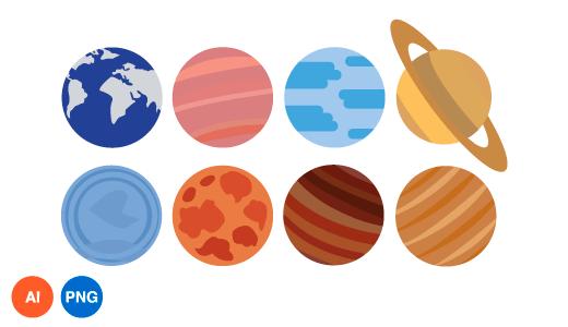 행성 이미지 디자인 일러스트 PNG