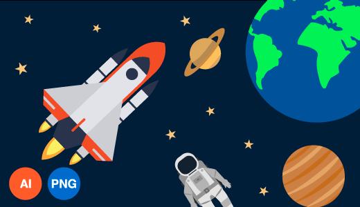 우주 이미지 디자인 일러스트
