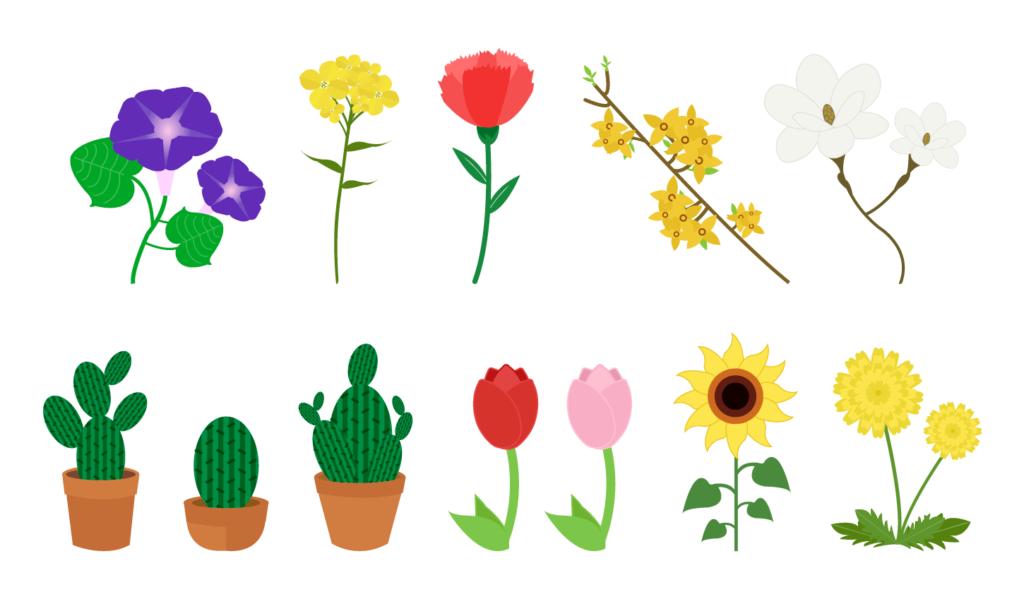 꽃 일러스트 모음