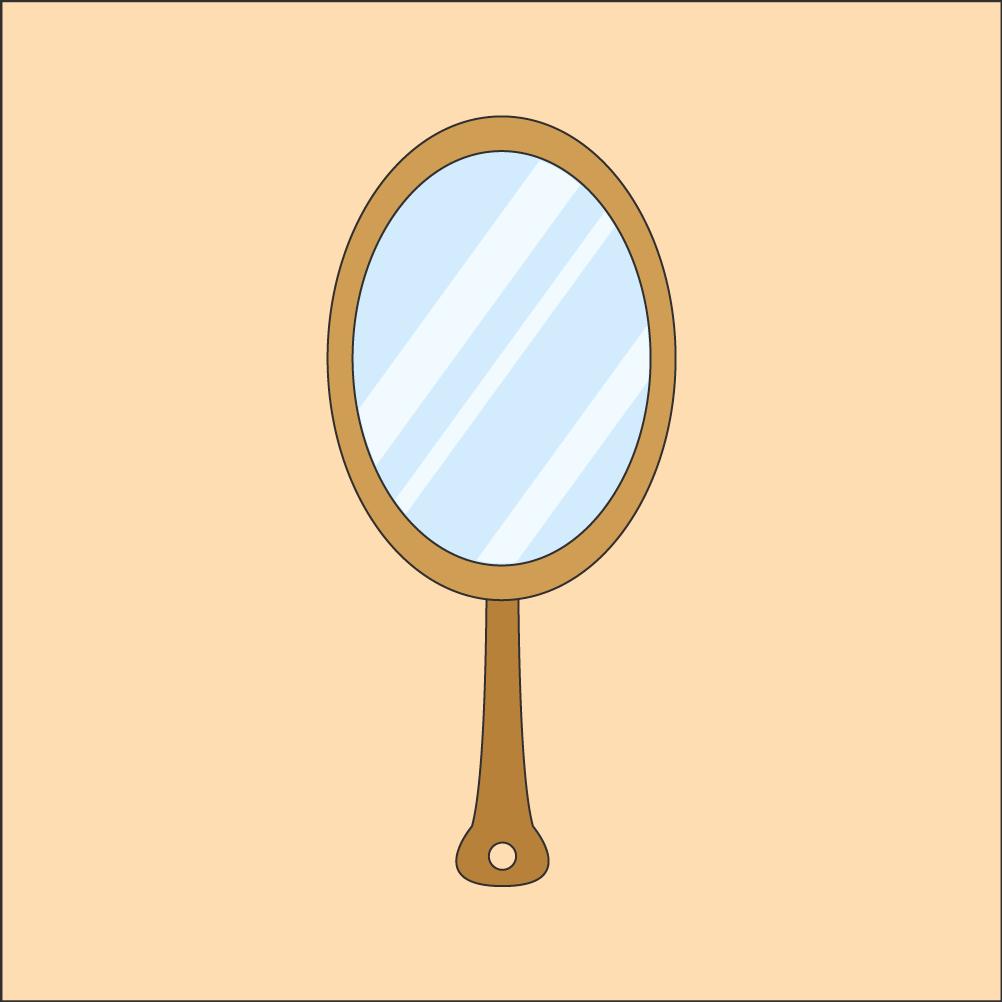 거울 일러스트 PNG