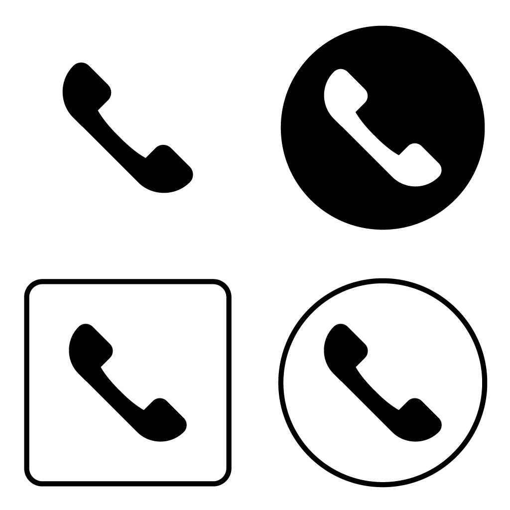 전화 아이콘 PNG