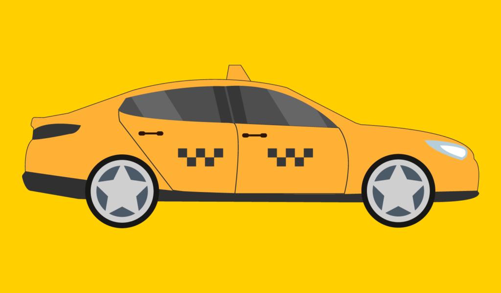 택시 일러스트
