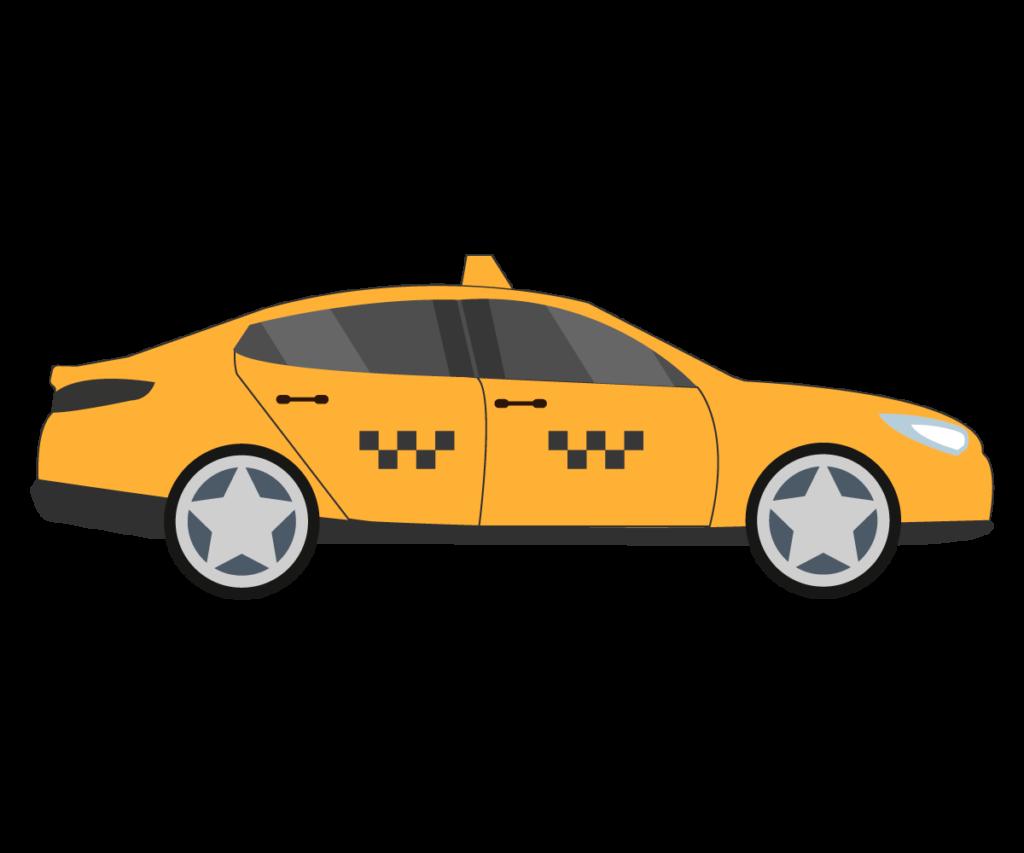 택시 png 일러스트