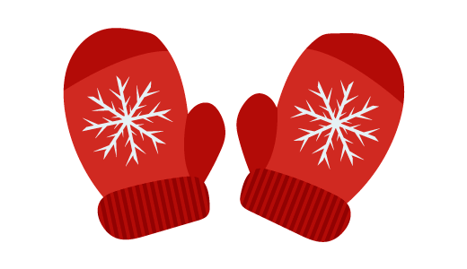 크리스마스 장갑 디자인 일러스트