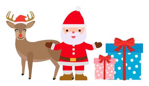 크리스마스 산타 디자인 일러스트