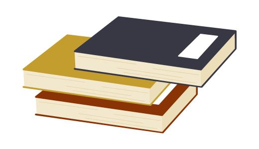 쌓여있는 책 아이콘